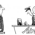 airline cartoon